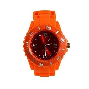 Mabz London Orange Montre sympa et tendance, en silicone de couleur par mit Datum