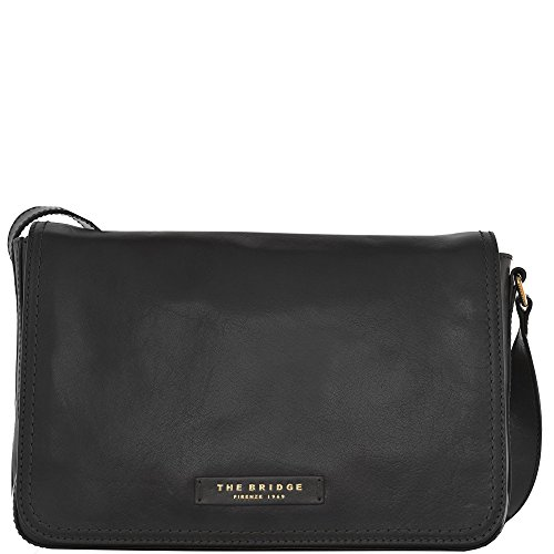 The Bridge Sac bandoulière cuir 30 cm nero-goldfarben
