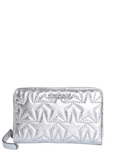 Jimmy Choo Luxury Fashion Donna HAZELTMMANTHRACITE Argento Portafoglio | Primavera Estate 19