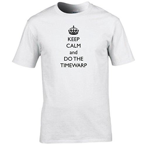 KEEP CALM AND DO THE distorsione del tempo - rocky horror show T-shirt da uomo Bianco