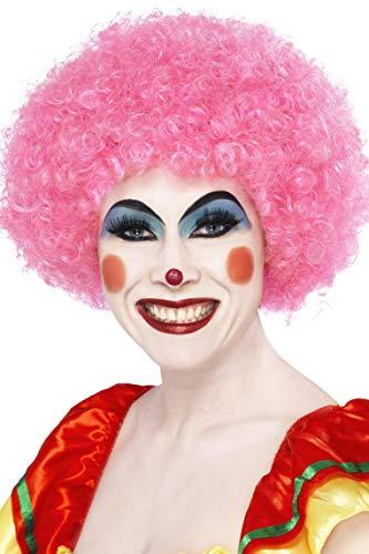 �ckter Clown Perücke, One Size, Pink, 42086 ()