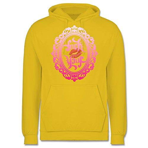 Statement Shirts - Ambigramm Fuck - Love - Männer Premium Kapuzenpullover / Hoodie Gelb