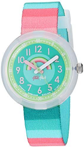 Flik Flak Mädchen Analog Quarz Uhr mit Stoff Armband FPNP014