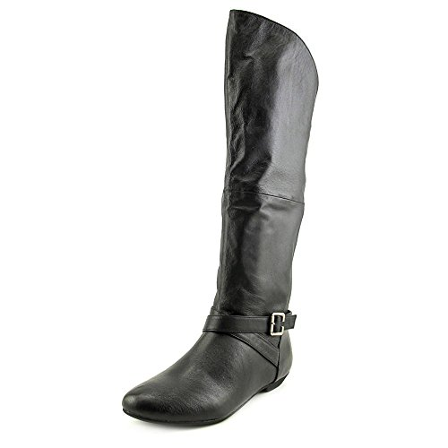 Chinese Laundry Z-Noble Damen Rund Nappa-Leder Mode-Knie hoch Stiefel Black