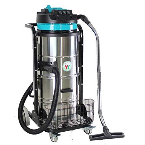 Nlne Aspiradoras y Accesorios industriales húmedos y Secos, 3000W de Gran Alcance, Cable de 8 m, 90 litros, Acero Stainess