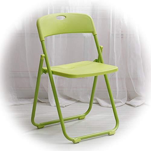 Trainings-raum Möbel (MFB Erwachsener faltender Plastikstuhl, Mehrfarbenart und weisecomputer-Stuhl, verwendbar für Training, Konferenz, speisender Stuhl, Bürostuhl, faltende Lagerung, sparen Raum (Color : Green))