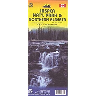 Jasper National Park & Northern Alberta Travel Reference Map: 1:250,000 / 1,000,000