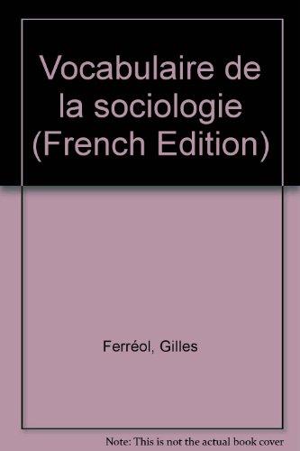 Vocabulaire de la sociologie