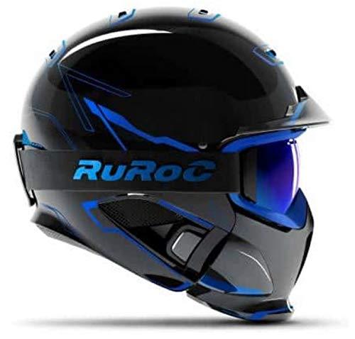 Ruroc RG1-DX Casque de ski/snowboard, Chaos ICE, M/L (57-60cm)