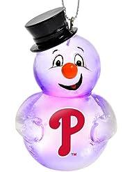 Philadelphia Phillies 2012 Light Up Snowman Ornement de Noël