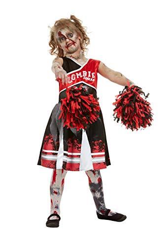 Smiffys 51079S Zombie Cheerleader-Kostüm für Mädchen, Rot, Größe S, Alter 4-6 Jahre (Cheerleader Zombie Mädchen Kostüm)