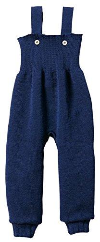 Disana 33104XX - Strick-Trägerhose Wolle marine, Size / Größe:62/68 (3-6 Monate)