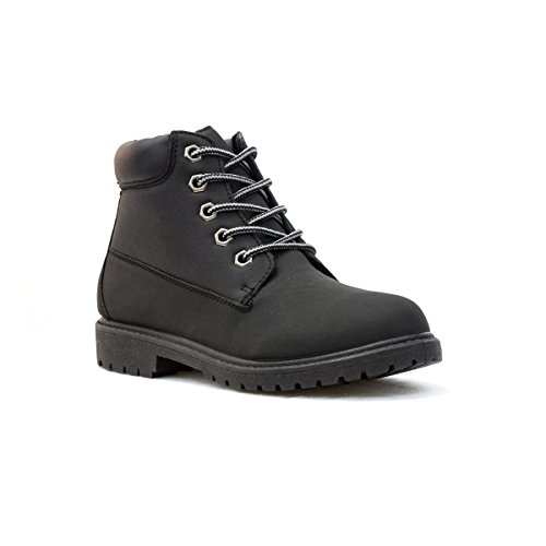 DemoMax - Demo Max Boys Lace-Up Ankle Boot in Black - Size 5 - Black
