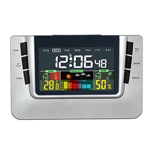 Thermometer Hygrometer Uhr und Wecker Schöne Wetterstation mit USB