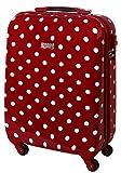 Hartschalen Reise Koffer TSA 55 x 40 x 20 Handgepäck 30 Liter Punkte Rot 813/818