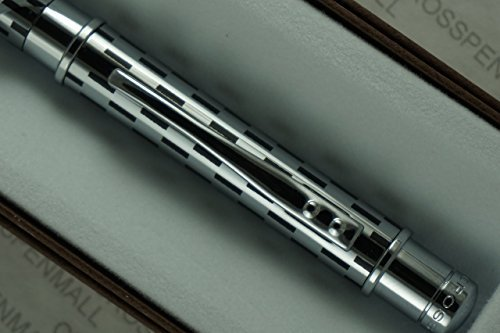 cross-sable-classic-black-check-and-chrome-twist-action-propel-repel-ballpoint-pen-by-cross