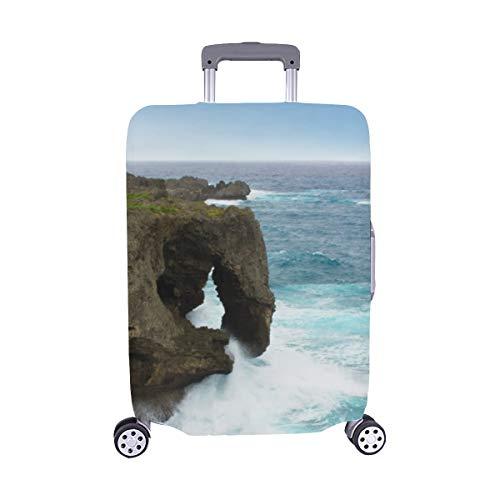 (Nur abdecken) View Elephant Rock Kap Manzamo Okinawa Spandex Staubschutz Trolley Protector case Reisegepäck Beschützer Kofferbezug 28,5 X 20,5 ()