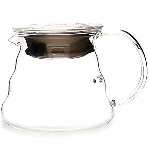 YQQ-Cafetière Coffee Pot Decanter/Carafe régulier - Nouvelle Forme de Verre Design - Poignée Ergonomique - Capacité 360ml 600ml