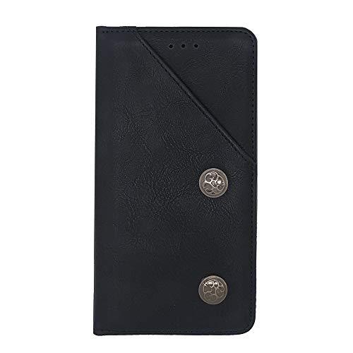 ZYQ Schwarz Retro Flip Echt Leder Tasche TPU Silikon Gel Schutz Hülle Für Leagoo Z7 Brieftasche Case Cover Etui Klapphülle Handytasche