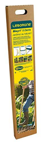 Leborgne 320301 Biogrif 5 Dents Non assemblée Manches Bois certifié pefc 100%, Vert, 135 x 50 x 10 cm