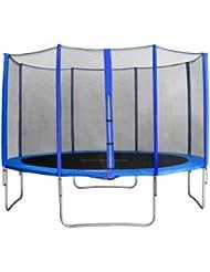 sixjump 13ft 400 m garden trampoline blue intertek gs tested for safety safety net tb4002215