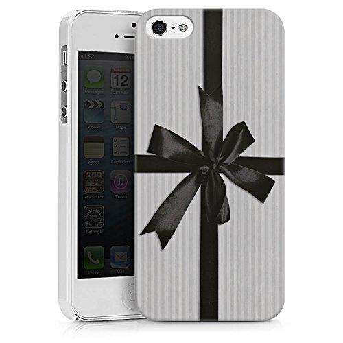 Apple iPhone X Silikon Hülle Case Schutzhülle Geschenk Schleife Grau Hard Case weiß