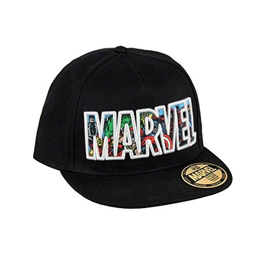 marvel-baseball-cap-kappe-schirmmutze-58-schwarz