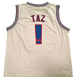 71d9bae76f21 Taz tune squad space jam sports movie basketball jersey looney for Adult  Standard US Size (