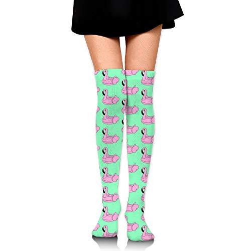 BigHappyShop Knee High Socks Flamingo Floatie 25.6 Inchs(65cm) Compression Sock Stockings For Women Girls