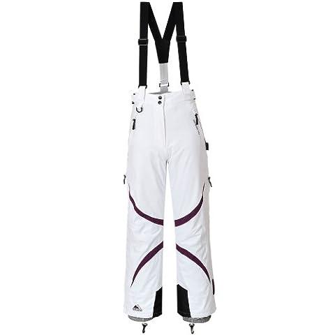 COX SWAIN Damen 2-Lagen Snowboard-/ Skihose JACY mit RECCO Lawinenreflektor 15.000mm Wassersäule!, Colour: White/Berry, Size: L
