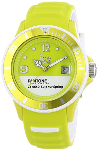 Ice-Watch Pantone Universe - Sulphure Spring Unisex Analogue Watch with Green Dial Analogue Display - PAN.BC.SUS.U.S.13