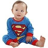 Fancy Me - bebé niño Niña super Baby Superman super héroe de regalo de un traje de disfraz