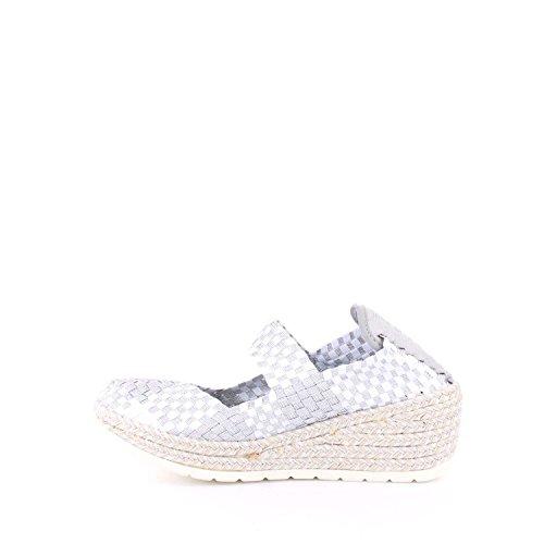 CafèNoir EA 900-010 scarpe donna sportive ballerine zeppe nere elastiche a intreccio 1759 MULTIBIANCO