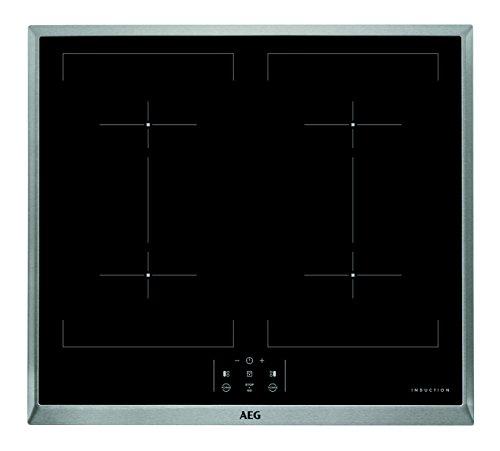 AEG HEM63401XB Plaque de cuisson à induction en acier inoxydable Noir 57,6 cm