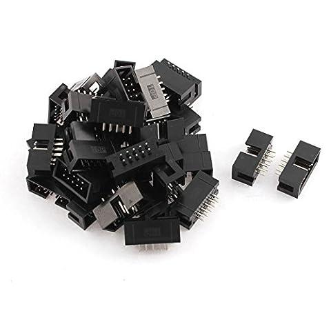 sourcingmap® 36pcs 2x5 10 épingles Connecteur Embase droite mâle 2.54mm Connecteurs IDC