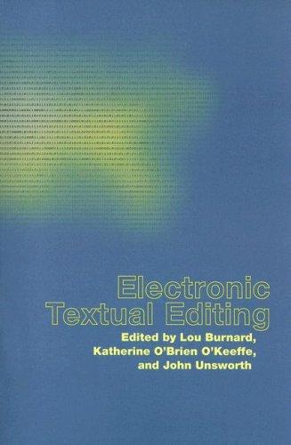 Electronic Textual Editing