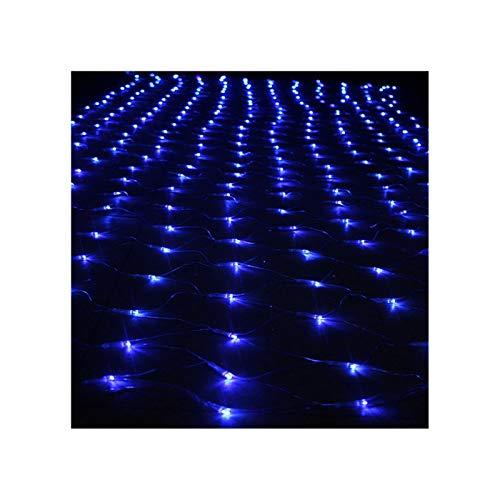 E-db LED Filet Lumineux Noël, 3M x 2M 320 LED, Fairy Net Lighting Décoration Noël Net Lights Halloween, Mariage, Fête (Bleu)