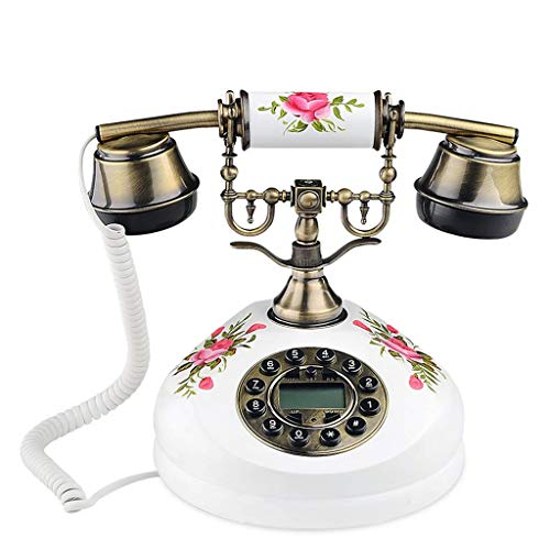 RMXMY Europäische antike antike Telefon Massivholz rustikalen Stil kreative Mode niedlichen Festnetz