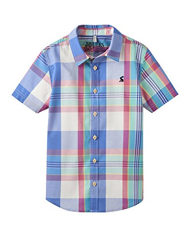 Joules Kurzarmhemd - Dazzling Blue Check - 9-10 years - 134-140 cm