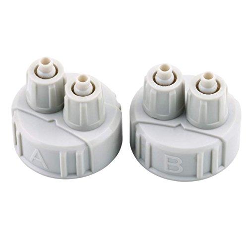 Delicacydex DIY ABS CO2-System-Ausrüstungs-Generator-Teil-Flaschenkapsel mit Rohren für gepflanztes Aquarium A/B Schnittstelle tragbares Leichtes Gewicht