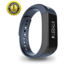 MevoFit Drive Fitness Band & Smart Watch : Smart-Watches with Fitness-Tracker-Bands for Men-&-Women | Activity-Pedometer (Royal Navy)