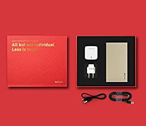 iHave combo 10000mah Power bank (Gold) with 3.4A adaptor and Apple certified MFI 1m lightning cable