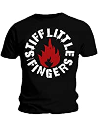 Official T Shirt Stiff Little Fingers ~ PUNK Round Logo All Sizes