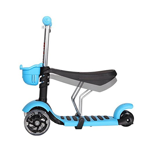 HJXJXJX Mehrfarben-optionaler Drei-In-One-Faltbarer Kinder-Multifunktionsroller , blue