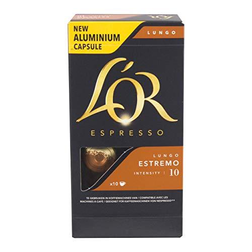 Douwe Egberts L´OR Espresso Lungo Estremo, Kaffeekapseln, Nespresso Kompatibel, gemahlener Röstkaffee, 60 Kaffee Kapseln