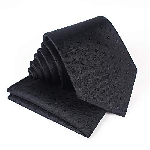 TieSilbA Krawatten für Herren Cashew flower jacquard pocket towel set 8.5cm men's professional business polyester silk tie set,B