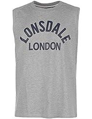 Lonsdale Hombre Cajas Tank Top Cuello Redondo algodón Boxing aermel los MMA Sportshirt