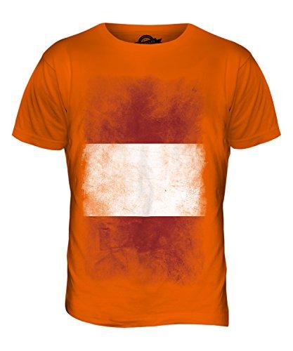 CandyMix Peru Verblichen Flagge Herren T Shirt Orange