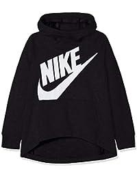 Nike G NSW Hoodie PO PE Sudadera, Niñas, Negro (Black/White), M