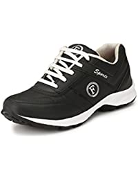 Fucasso Men's Synthetic Black Sports Shoes